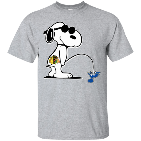 Chicago Blackhawks-Snoopy Piss On-St. Louis Blues