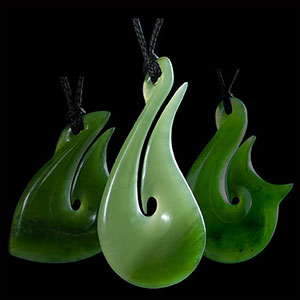 Jade Hooks - Traditional Maori jade jewelry and necklaces