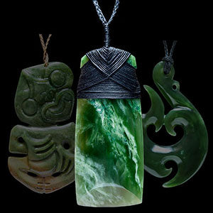 Jade Traditional Maori designs in jewelry and necklaces