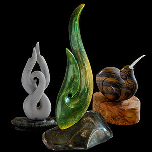Feature Artists Sculptures in Jade, wood and bone