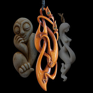 Yuri Terenyi - Wood and bone carvings, traditional instruments and wearable art