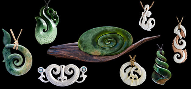 Bone Art Place Featured Artists - Jade and bone carvings and necklaces