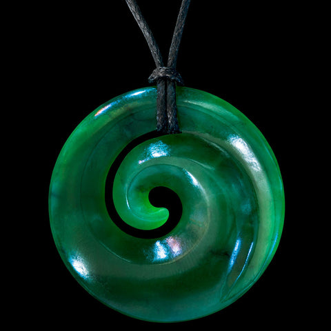 place the art bone maori large spirals necklace koru pendant collections