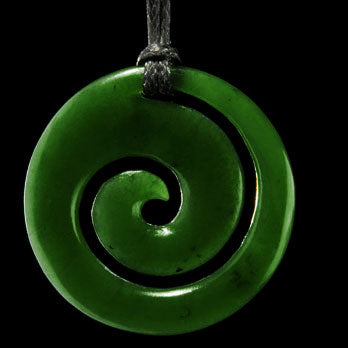 Jade Maori Style Koru Pendant From New Zealand