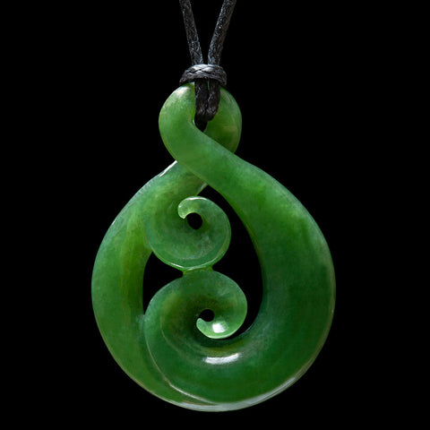 Jade Twist Pendant by New Zealand Artist Ross Crump