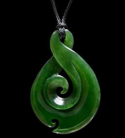 Maori style jade Twist Koru Necklace