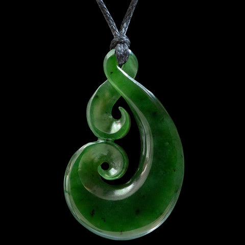 Maori Twist Jade Carving Pendant by Ross Crump