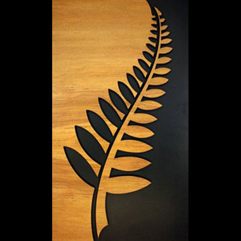 Wooden Fern Leaf Hanging Wall Panel