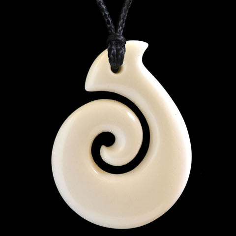 Maori Bone Koru Necklace