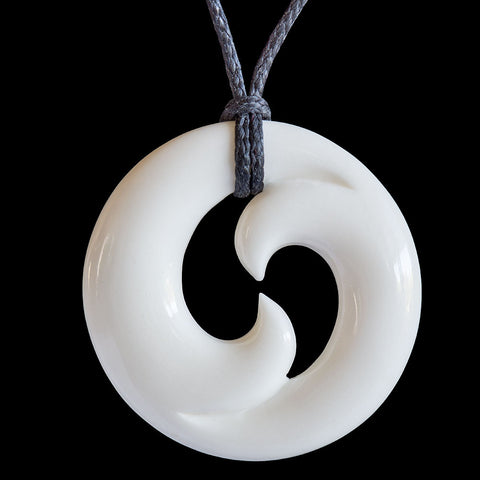 Maori Bone Carving Koru Necklace