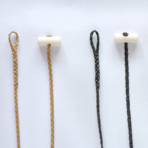 Plaited Cords with Bone Toggles