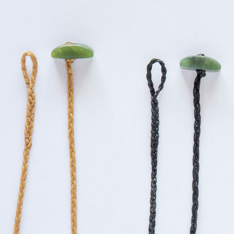 Plaited Cords with Jade Toggles