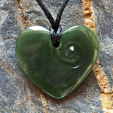 Jade Heart Carving Necklace