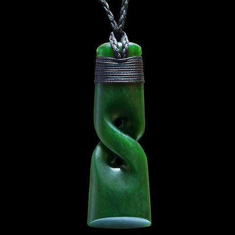 Maori Toki Jade Carving Necklace