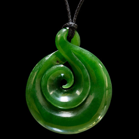 Jade Twist necklace by Ross Crump