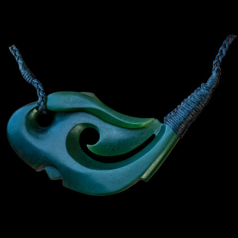 Large Jade Matau Pendant by Nick Balme