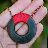 Bound Basalt Pi Disc Necklace by Alex Sands