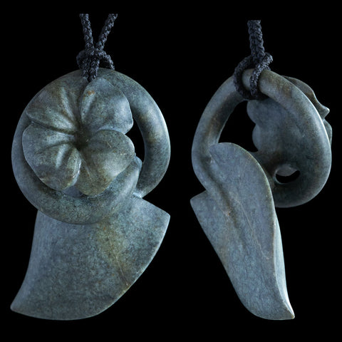 Serpentine Vine, Leaf and Flower Pendant by Madelyne Gourdin