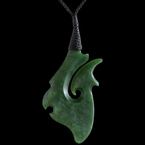 Large Maori Style Jade Matau by Nick Balme from New Zealand