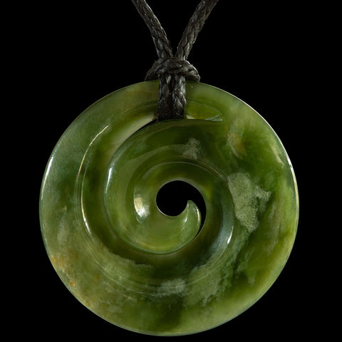 New Zealand Jade Koru Pendant by Bill Goodwin