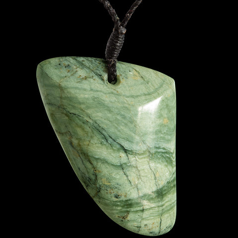 Maori Style New Zealand Flower Jade Rei-Puta Pendant by Alex Sands