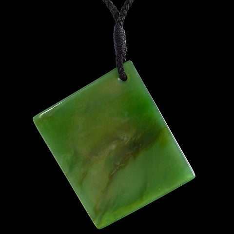 Large New Zealand Jade Drop Pendant by Samuel Potter