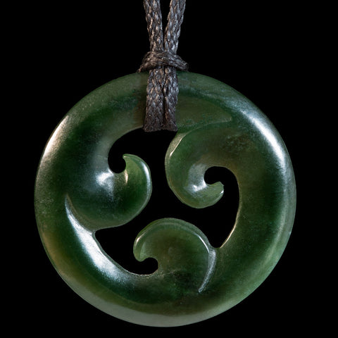 New Zealand Jade Koru Pendant by Elliot Lewis