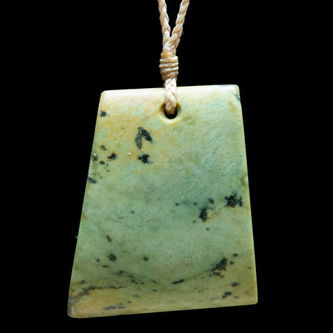 New Zealand Jade River Stone Toki Pendant by Nick Balme