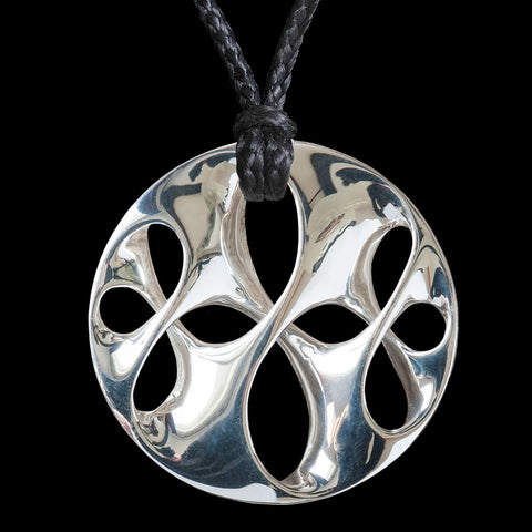 Small Sterling Silver Crossover Twist Pendant by Kerry Thompson
