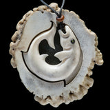 Deer Antler Fish Pendant by New Zealand Artist Len Kay