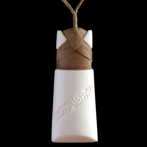 Maori Bone Carving Toki Necklace