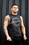 Paint Splatter Cut Off - Black