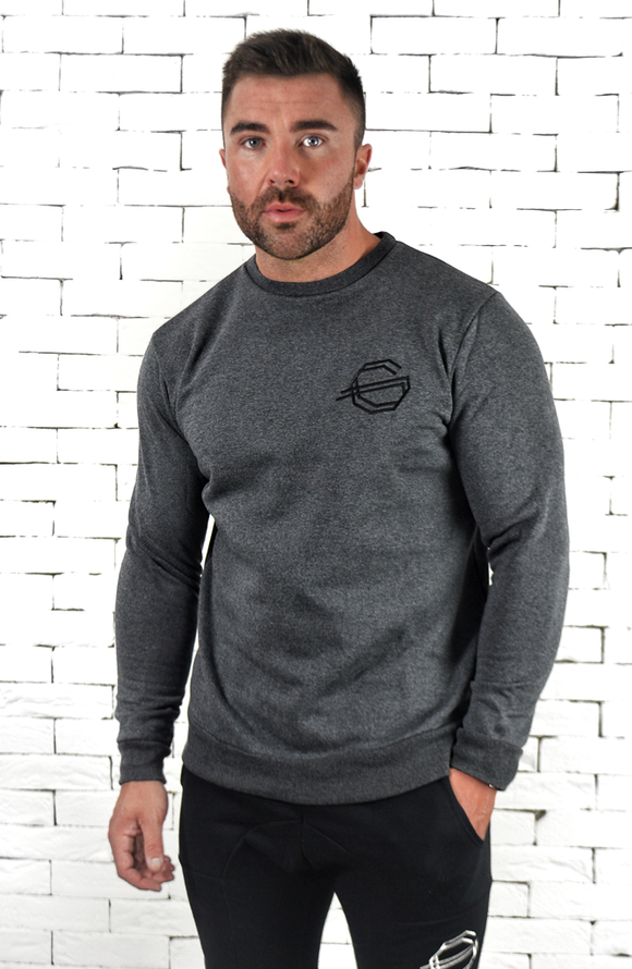 Crew Neck Sweatshirt - Charcoal