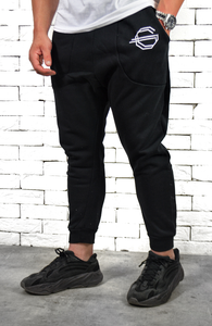 Drop Crotch Joggers - Black