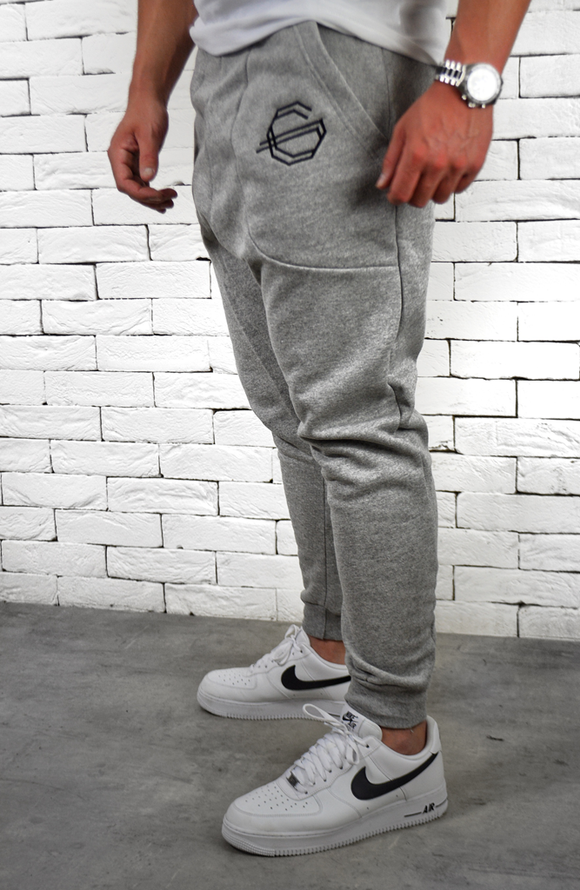 Drop Crotch Joggers - Grey