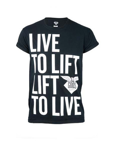 Gods Gift Clothing live to lift t-shirt