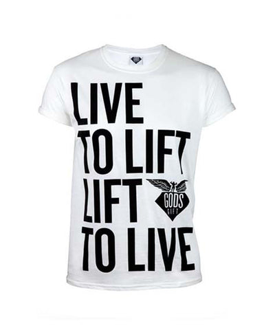 Live To Lift T-Shirt - White