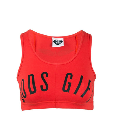 Women's Cropped Vest - Red