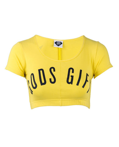 gods gift clothing cropped t-shirt