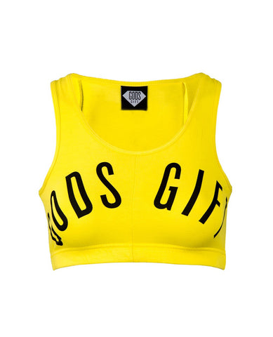 Women's Cropped Vest - Yellow