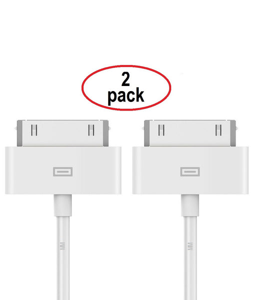 MMOBIEL 2 x iPhone 30 PIN naar USB Kabel 3,2 ft (1.0 M) Sync en Laad Charging Dock Connector Oplaad Kabel