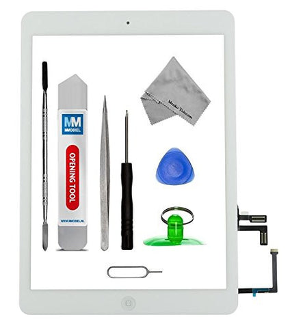 iPad Air Wit Digitizer Scherm Glas Touch Screen Front Display