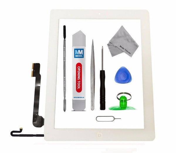 iPad 4 Wit Digitizer Scherm Glas Touch Screen Front Display