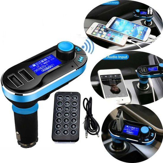 5 in 1 Draadloze Bluetooth Auto MP3 Speler / FM transmitter / LED Display / Handsfree bellen / 2 X High Speed USB Oplader / SD,TF Card Ondersteuning / USB Stick / 3.5mm Jack AUX Voor Smartphone iPhone / Samsung / HTC / Sony / Huawei