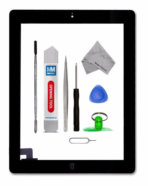 iPad 2 Zwart Digitizer Scherm Glas Touch Screen Front Display