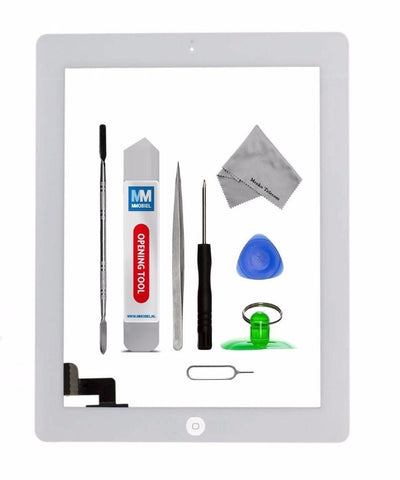 iPad 2 Wit Digitizer Scherm Glas Touch Screen Front Display