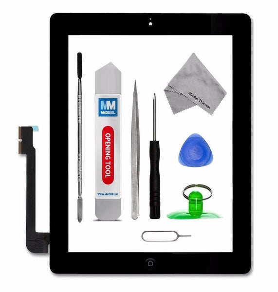 iPad 3 Zwart Digitizer Scherm Glas Touch Screen Front Display