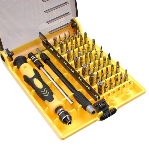 JACKLY C 45 in 1 Professioneel Portable Opening Tool Compact Precisie Schroevendraaiers Kit Set met 130 mm Flexibele Extensie Pen