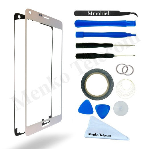 Note 4 Glas Scherm Wit Incl. reparatie Toolkit