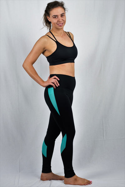 Slim Line Leggings for ultimate movement.  Made from Spandex, Polyester and Cotton for maximum stretch.  Eco-Friendly, Anti-Bacterial and Breathable. With high waist band for added support.  4 Colours Available